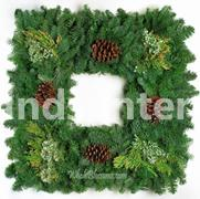 Square Mixed  Wreath 22""